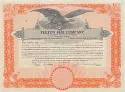 Fulton Fur Company - 1926