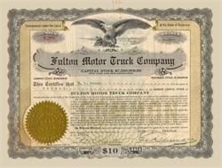 Fulton Motor Truck Company 1919