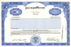 Garage.com - (IPO Certificate) Delaware