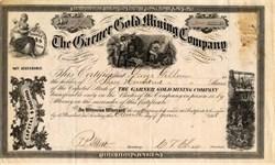 Garner Gold Mining Company - Tuolumne County, California - 1868