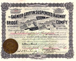 Gagnier - Griffin Suspended Railway Bridge Company - Chicago, Illinois 1894