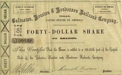 Galveston, Houston & Henderson Railroad Company - Texas, 1857