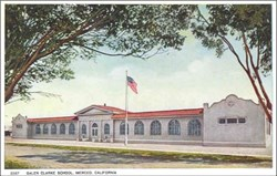 Galen Clarke School, Merced, California Postcard