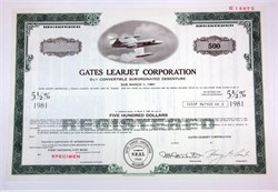 Gates Learjet Corporation - Delaware 1975
