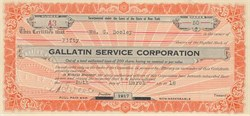 Gallatin Service Corporation