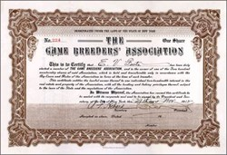 Game Breeders' Association 1912 - New York