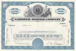 Gardner - Denver Company Stock Certificate 1960 - 1972