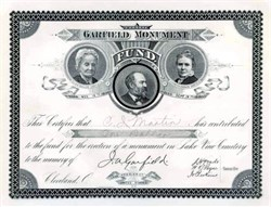 President Garfield Monument Fund - Cleveland, Ohio