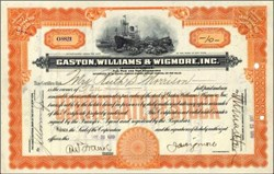 Gaston, Williams, & Wigmore, Inc. 1919 - Shipping Importers and Exporters