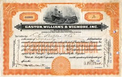 Gaston, Williams & Wigmore, Inc. - Shipping Importers and Exporters - New York  1921