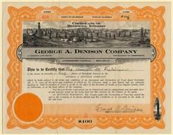 George A. Denison Company - California 1925