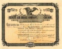 Genett Air Brake Company - Illinois 1892