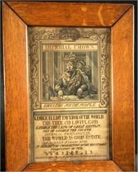 George Elliot Emperor of the World Satirical Broadside (Period Frame) - 1853