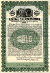 General Fuel Corporation Gold Bond  - Indiana 1921