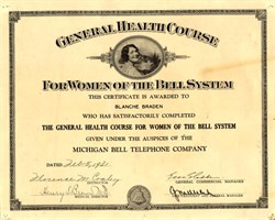 Michigan Bell - General Health Course for Women of the Bell System - 1931
