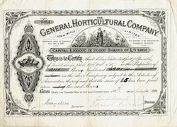 General Horticultural Company - England 1880