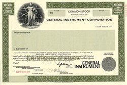 General Instrument Corporation - Delaware 1989
