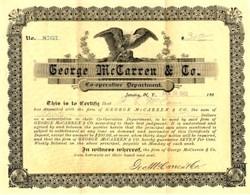 George McCarren & Co. Cooperative Department - Jamica, New York - 1903