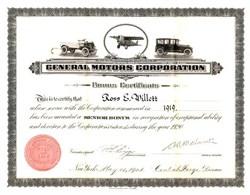 General Motors Corporation (Original Equity Bonus Plan)  - Delaware 1920