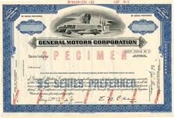 General Motors Corporation (Specimen) Pre Bankruptcy  - Delaware 1972