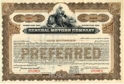General Motors Company Specimen Stock - New Jersey  1910