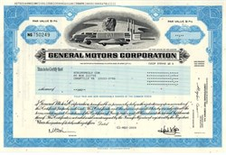 General Motors Corporation - (Uncancelled - Last Certificate issued before Bankruptcy)