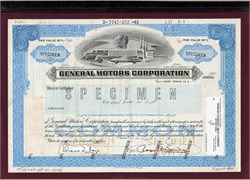 General Motors Corporation Specimen Proof - Delaware 1985