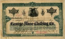 George Muse Clothing Co. (Elk Vignette) - Atlanta, Georgia 1912