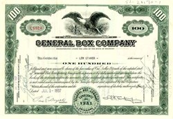 General Box Company Stock Certificate