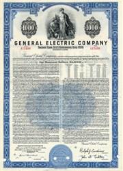 General Electric Company 1956 $1,000 Bond - Ralph Cordiner
