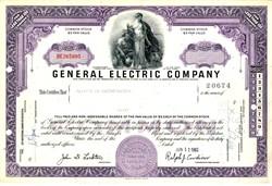 General Electric Company 1962 - Ralph Cordiner