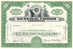General Foods Stock Certificate