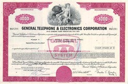 General Telephone and Electronics Corporation (Now Verizon) - 1960's