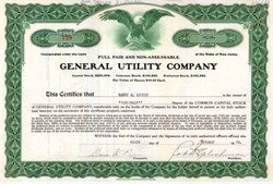 General Utility Company 1920