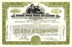 General Water Works and Electric Corporation 1930