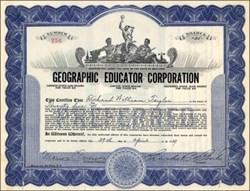 Geographic Educator Corporation 1927