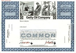Getty Oil Company (J. Paul Getty as President)  - Delaware 1969
