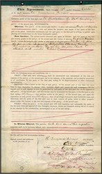 Private Telephone Line Agreement signed by George Westinghouse - 1897