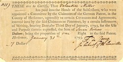 German Patent for County of Herkemer  (Land Patent) - Newburgh, New York 1795