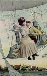 German Balloon Postcard - Turn of the Century