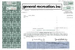 General Recreation, Inc. - Delaware 1975
