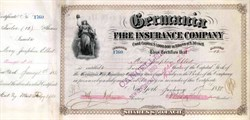 Germania Fire Insurance Company 1880 - New York