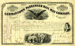 Germantown Passenger Rail Way Company 1890's - Florence Nightingale Vignette