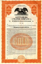 Gettysburg Water Company First Mortgage Five and One-Half Percent Gold Bond - Pennsylvania 1927