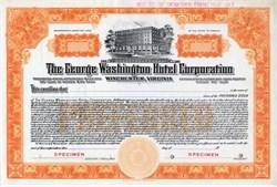 George Washington Hotel Corporation - Winchester, Virginia - 1924