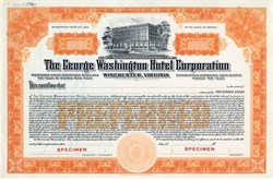 George Washington Hotel Corporation - Winchester, Virginia 1924