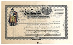 General Washington Mining Company - Nevada. Esmeralda. Goldfield. Organized in South Dakota - 1907