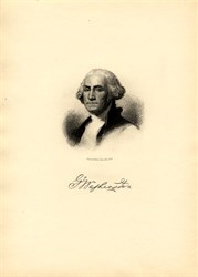 George Washington Portrait engraved by H.B. Halls Sons, New York