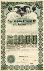 George W. Young & Company, Inc. (Wall Street Private Banking Firm) - New York 1917