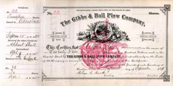 Gibbs & Ball Plow Company 1884 - Canton, Ohio